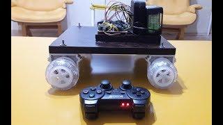 PS3 ve ps2 oyun kolu ile kontrol edilebilen 4x4 yapımı Kendin yap.