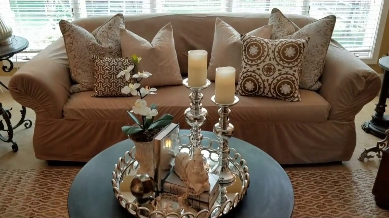 Spring summer rustic glam living room tour youtube for Room decor ross