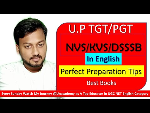 TGT PGT NVS KVS DSSSB Lecturer in English What To Study and How to Study (Books and Free Resources)