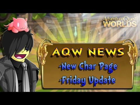 AQW News, New Character Pages And Friday Update
