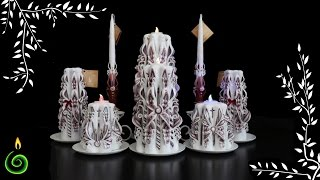 Carved candles - wedding collection