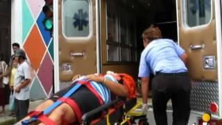Motociclista termina en el hospital