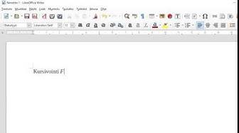 Kursivointi LibreOfficeWriter