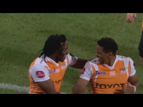 Craig Barry uses sheer speed and class to ghost through the Scarlets defense. Cheetahs vs SCAR '17