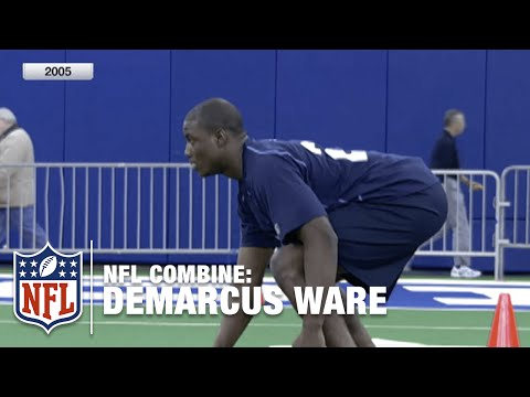 DeMarcus Ware (LB, Troy University) | 2005 NFL Combine Highlights
