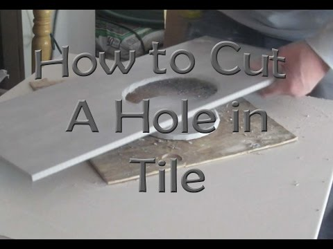 How to cut a hole in ceramic tile for toilet flange with an angle grinder