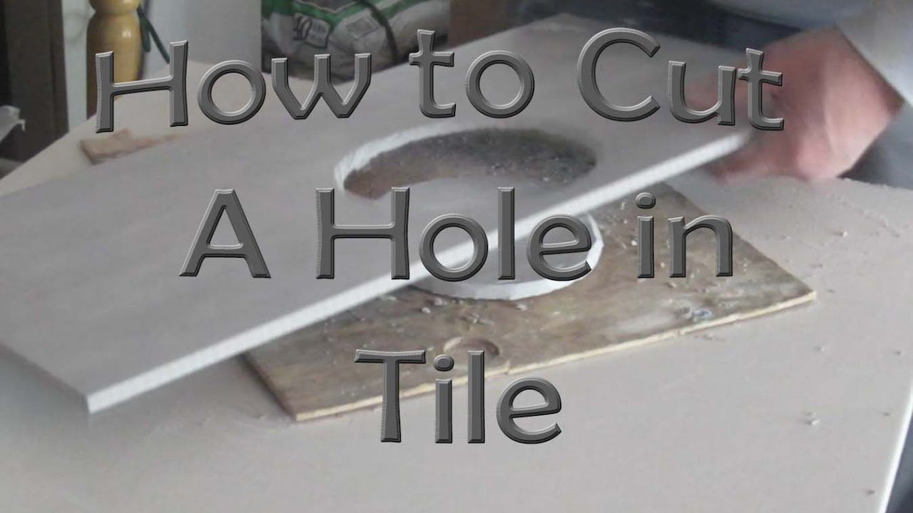 How to cut a hole in ceramic tile for toilet flange wit ...