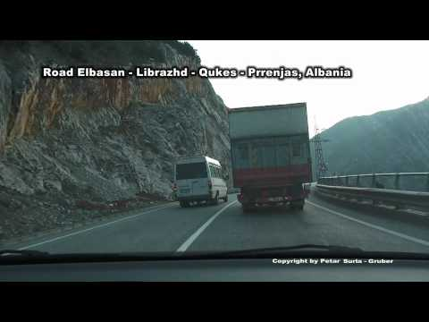 Road/Rail/River line Elbasan - Librazhd - Qukes - Prrenjas, Albania