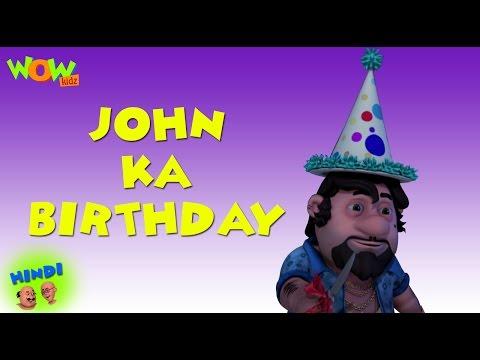 John's Birthday - Motu Patlu in Hindi WITH ENGLISH, SPANISH & FRENCH SUBTITLES