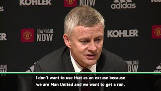Solskjaer admits Manchester United are a young team, but do not want to use that as an excuse