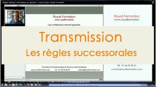 Transmission de patrimoine, formation gestion de patrimoine du chef d