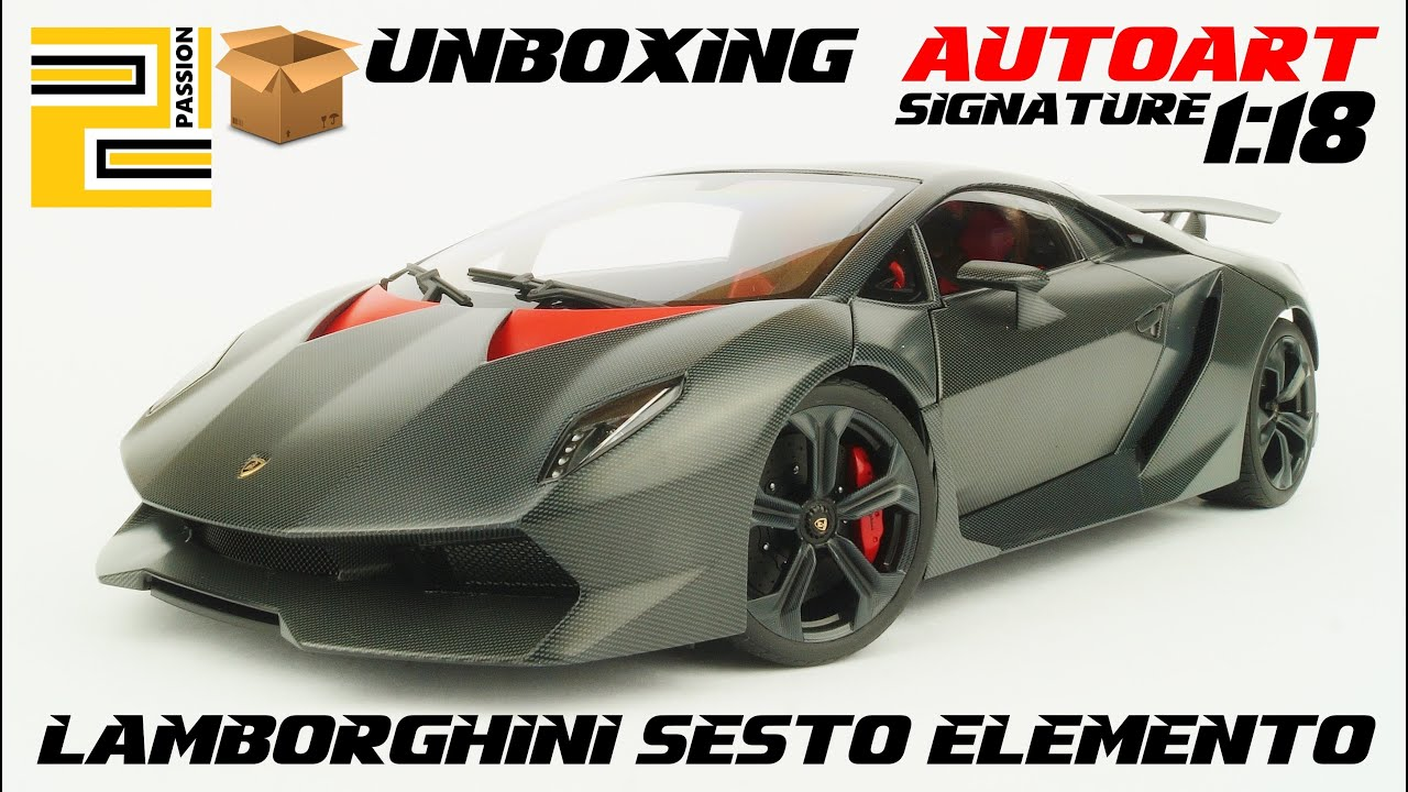 Unboxing Lamborghini Sesto Elemento 1 18 Autoart Signature Youtube