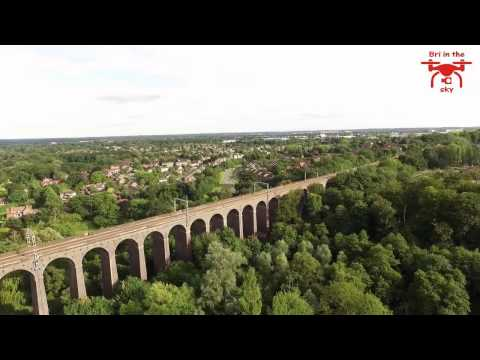 Phantom 3 flight showing parts of Welwyn Garden City
