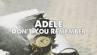 Video Adele - Don't You Remember (Piano, Instrumental) download MP3, MP4, WEBM, AVI, FLV April 2018
