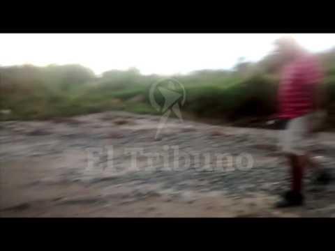 Susto en el río al escuchar la voz de una niña durante una filmación