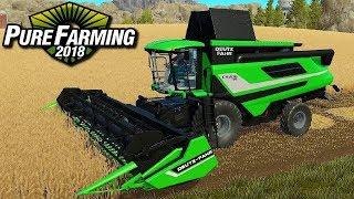 Żniwa nowym kombajnem - Pure Farming 2018 | #42