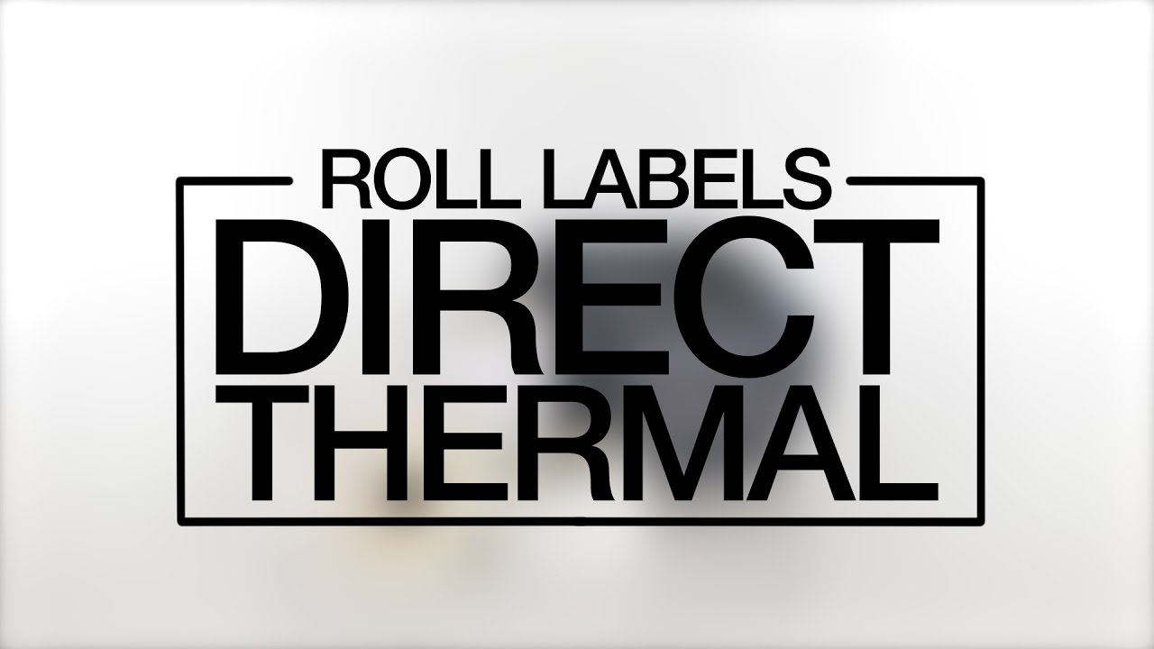 Weatherproof Direct Thermal Roll Labels - Sizes and