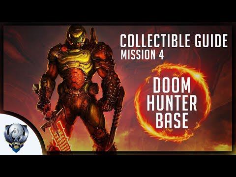 Doom Eternal (Mission 4 DOOM HUNTER BASE) All Collectibles, Upgrades, Secret Encounter & Extra Lives - 동영상