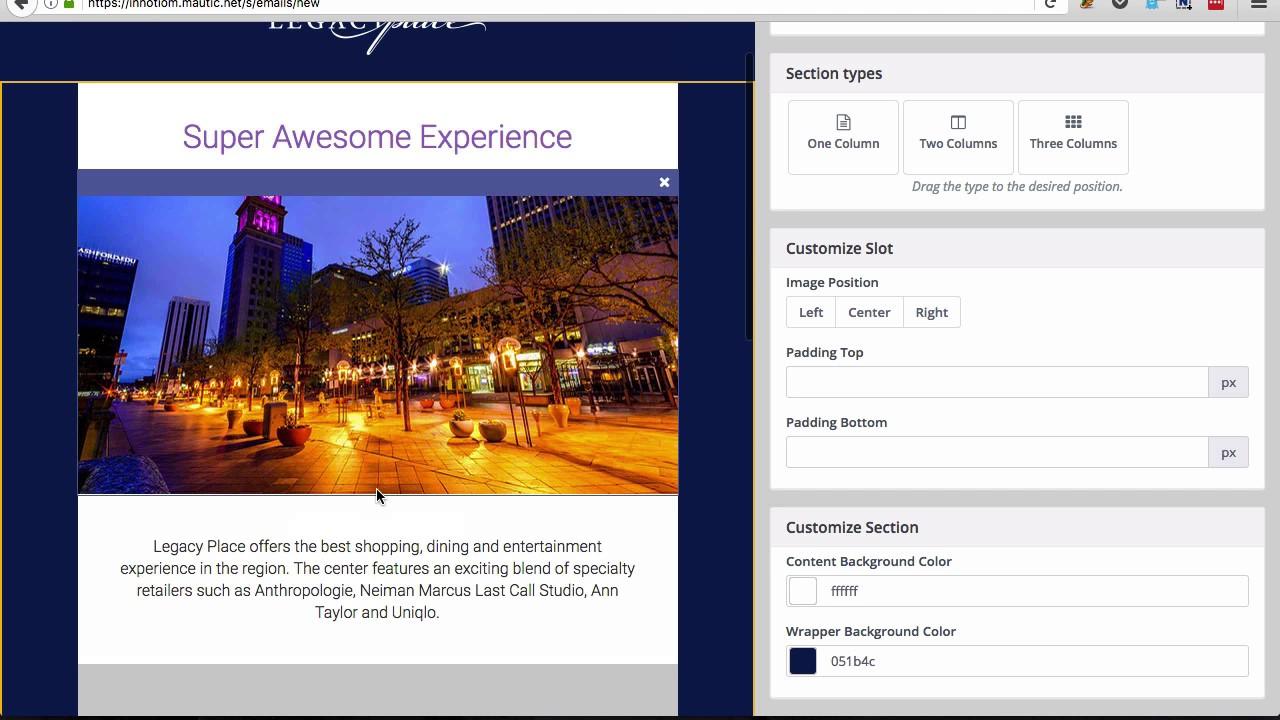 Dedham walkthrough - Mautic email template