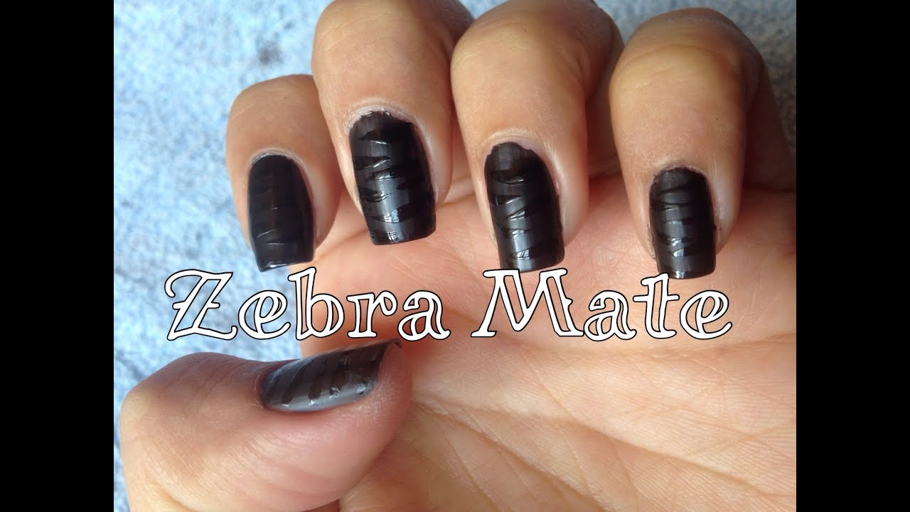 Diseño de uñas Zebra Mate (animalprint)💅 - YouTube