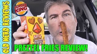 Burger King Crispy Pretzel Chicken Fries REVIEW 🍔👑🥨🐔🍟