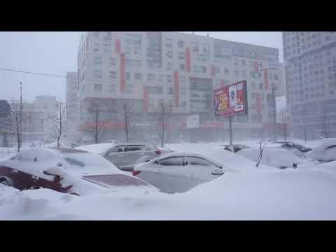 Погода в Казани . Сегодня. Чистопольская . Снегом замело все .