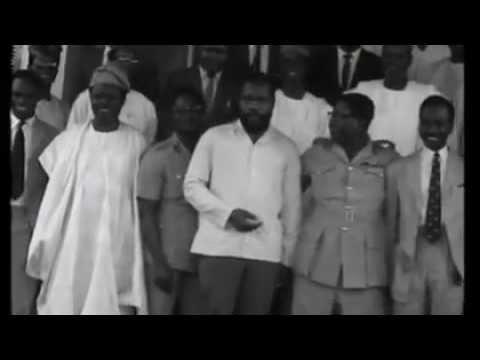 Ojukwu and Gowon in Aburi Ghana