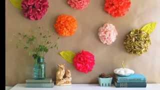 Цветы из гофрированной бумаги своими руками.