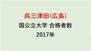 呉三津田高校 大学合格者数 2017~2014年【グラフでわかる】