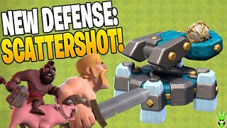 ALL YOU NEED TO KNOW ABOUT THE SCATTERSHOT DEFENSE! - Clash of Clans