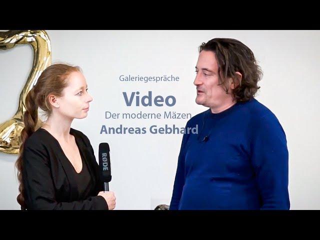 Galeriegespräche: der moderne Mäzen Andreas Gebhard in der Galerie Irrgang Berlin