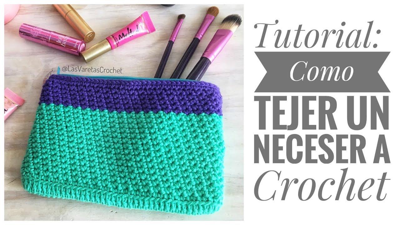 edf369d62 Como Tejer Bolso / Neceser a Crochet - YouTube