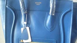 Celine bag, Celine Large Luggage Tote Blue - Tophandbaguk.com Thumbnail