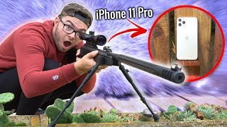 SNIPER VS IPHONE 11 PRO ! (Crash Test)
