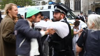 Violence towards Met Police at Anti Austerity Protest May 2015