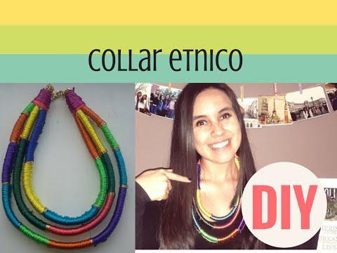 DIY COLLAR ETNICO | COLLAR FACIL | COLLAR TRIBIAL