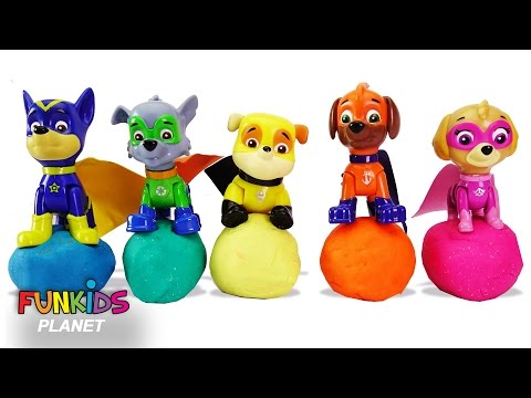 Thumbnail: Learning Videos for Children: Paw Patrol Skye & Chase Pups Play Lion Turtle Truck Play doh Molds