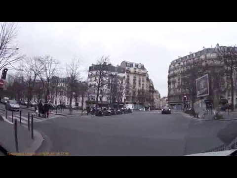 Driving In France 01/01/2016 - A 6 - Paris - Neuilly Sur Seine