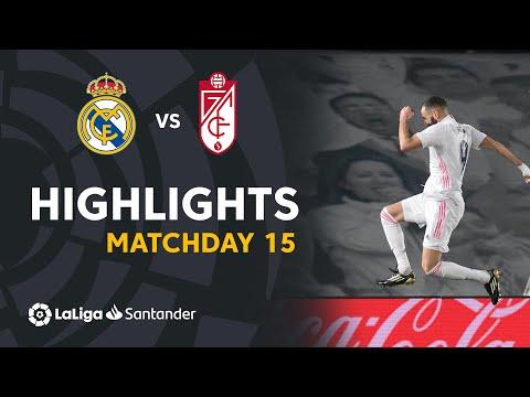 Highlights Real Madrid vs Granada CF (2-0)