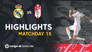 Highlights Real Madrid vs Granada CF (2-0)