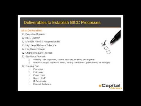 Business Intelligence Competency Center Webinar