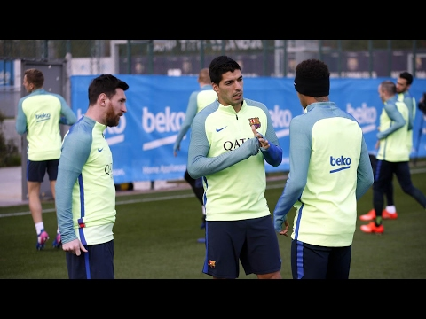 FC Barcelona training session: Final session ahead of trip to Alavés
