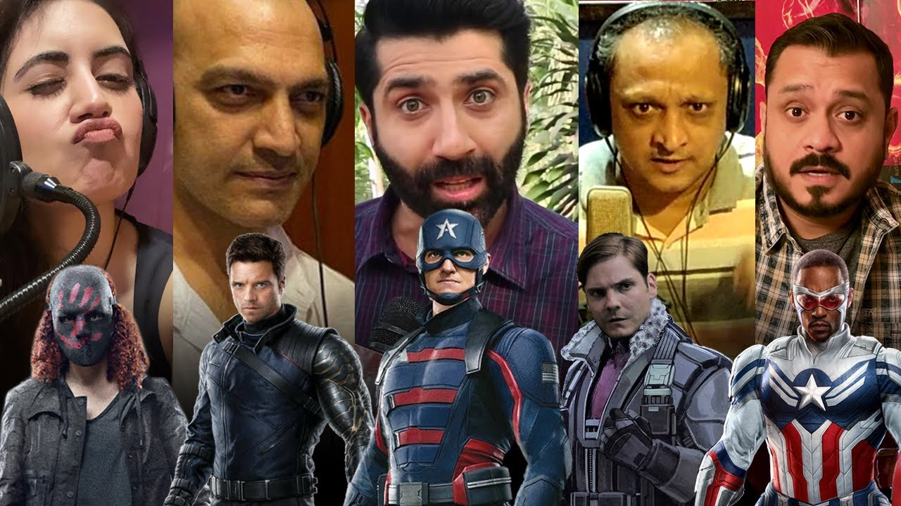 HINDI VOICE behind The Falcon and the Winter Soldier | LIVE DUBBING