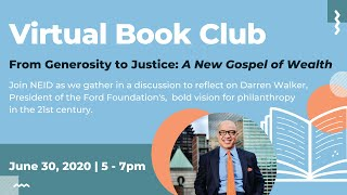 Virtual Book Club: From Generosity to Justice