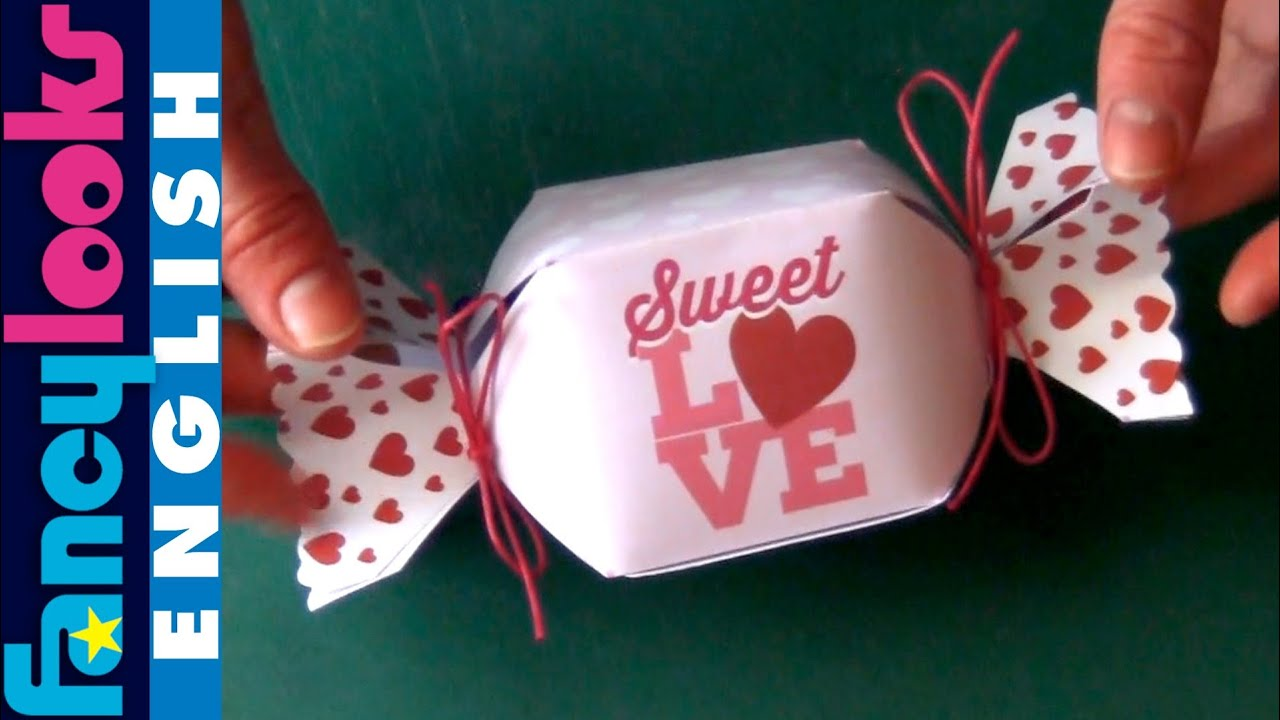 Hand made Candy box (Download pattern) - YouTube
