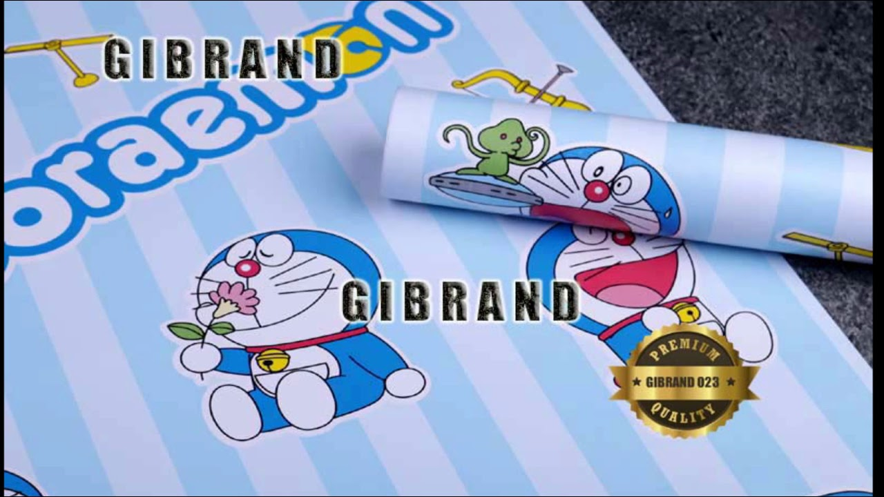 TERMURAH!! 0857 8513 6959 Wallpaper Sticker Doraemon - YouTube