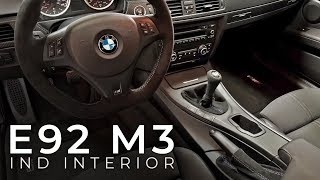 E92 M3 M Performance Steering Wheel, IND Alcantara Upgrades, & Clutch Spring Removal
