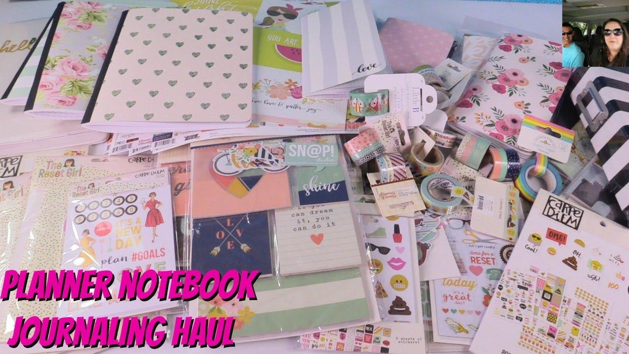 Blitsy Blitsy Haul Journal Scrapbook Planner Supplies Shopping