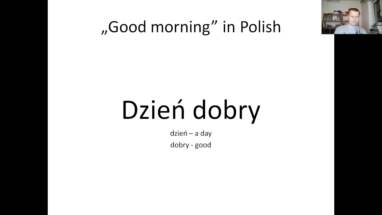 how to say polish in polish