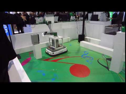 Nidec Smarctory S-Cart Robot - CES 2017, Sands Expo, Las Vegas, NV